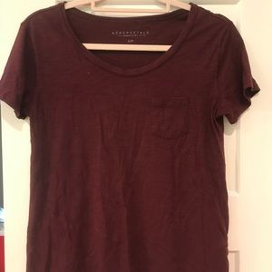 Maroon pocket tee